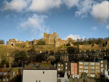 Dover Castle. The famous Dover Castle above the town Royalty Free Stock Photography