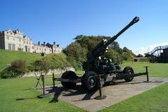 Dover Castle artilleri i England Royaltyfria Foton