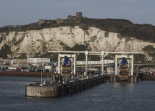 Dover castle and dover port, Kent, England Stock Photos