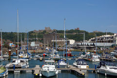 Dover Castle and Harbour Royalty Free Stock Photos