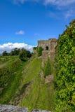 Dover Castle, Dover, het UK - 18 Augustus, 2017: Zijaanzicht langs c Royalty-vrije Stock Afbeelding