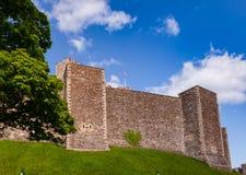 Dover Castle Inner Bailey Wall Kent Southern England het UK royalty-vrije stock afbeelding