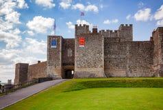 Dover Castle Inner Bailey Wall Kent Southern England Reino Unido fotografia de stock