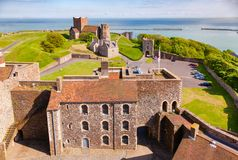 Dover Castle Inner Bailey Wall Kent  Southern England UK Stock Image