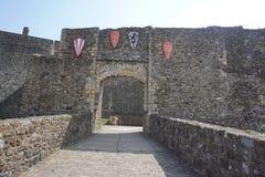 Dover Castle interior showing the stone walls stock photos