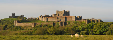 Dover Castle Keep walls and church Royalty Free Stock Photos