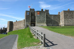 Dover Castle in Kent county. Dover Castle - a medieval fortress in United Kingdom, county of Kent Royalty Free Stock Photo