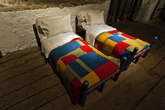 Dover castle kings bed chamber room. Dover castle keep kings bed chamber room uk england childrens beds stock photo