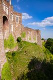 Dover Castle outer curtain wall Kent  Southern England UK. Medieval Dover Castle outer curtain wall, Kent,  Southern England, UK Royalty Free Stock Photos