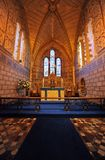 Dover Castle saxon church interior Stock Image