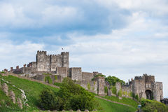 Dover Castle. View of the Dover Castle with trees and blue sky - Sussex UK (05/2016 Royalty Free Stock Photo