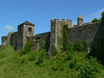 Dover Castle. On top of Dover White cliffs in Dover, England Royalty Free Stock Photos