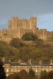 Dover castle and town Stock Image
