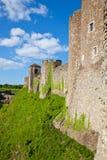 Dover Castle vägg royaltyfri fotografi