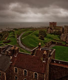 Dover castle. View on seaside Stock Photography