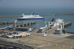 Dover commercial docks Stock Image