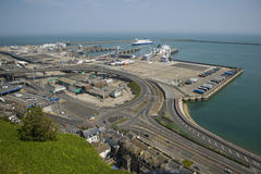 Dover commercial harbour Royalty Free Stock Photo