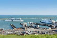 Dover docks and harbour in Kent, UK Stock Image