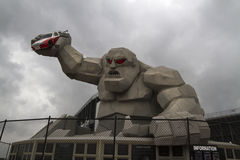 Dover Downs Monster Mile. The entrance to Dover International Speedway in Dover, Delaware is dominated by the 50ft 'Monster Mile ' sculpture. The speedway hosts stock photo
