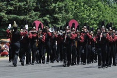 Dover-Eyota High School Marching Band in Parade Stock Images