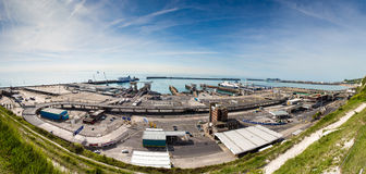 Dover Ferry Port Lizenzfreies Stockfoto