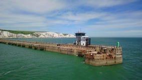 Dover Harbor-Hafen Seeraumwellen Kay Stockbilder
