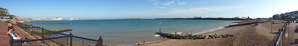 Dover harbour panoramic Royalty Free Stock Photo