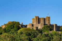 Dover kasztel w Dover, Kent Średniowieczna budowa 11th wiek z defensywnym znaczeniem obraz stock