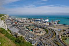 Dover, Kent, England, Uk - August 17.2017: Ariel view of the Dov Royalty Free Stock Image