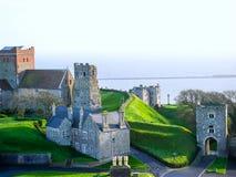 Dover, Kent latarnia morska i Angielski kanał - obrazy stock