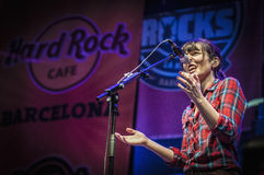 Dover performs at the Hard Rock Rocks La Merce stock photography