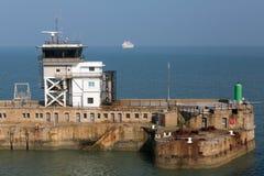 Dover Port Control bij de Oostelijke Haveningang Royalty-vrije Stock Afbeelding