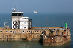 Dover Port Control at the Eastern Harbor Entrance Royalty Free Stock Image