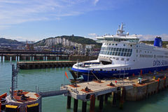 Dover port for ferries Royalty Free Stock Photo