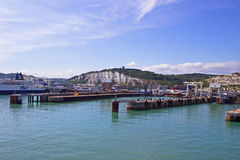 Dover port for ferries Stock Image