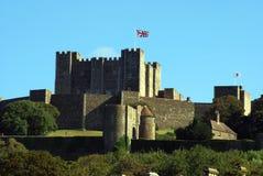Dover slott i England Arkivbild