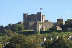 Dover slott i England Arkivbilder