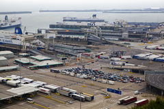 DOVER, UK - APRIL 12, 2014: - Dover port, busiest port of England got the plan to build the Third terminal Royalty Free Stock Images