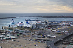 DOVER, UK - APRIL 12, 2014: - Dover port, busiest port of England got the plan to build the Third terminal Stock Photography