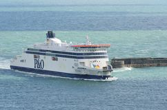 Dover, United Kingdom - October 1, 2016:  P&O cross channel Ferry Stock Photography