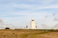 A view of the South Foreland Lighthouse. Dover, United Kingdom, 18th January 2019:- A view of the South Foreland Lighthouse near the Port of Dover over looking royalty free stock photos