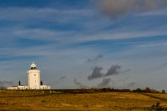 A view of the South Foreland Lighthouse. Dover, United Kingdom, 18th January 2019:- A view of the South Foreland Lighthouse near the Port of Dover over looking stock images