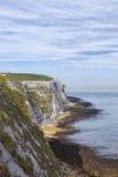 Dover white cliffs, coastal path, English Channel Stock Photos