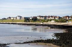 Dovercourt海滩看法从Harwich的 库存图片