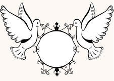 Doves with frame Royalty Free Stock Photo