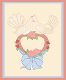 Doves and heart Royalty Free Stock Images