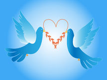 Doves of love Stock Images