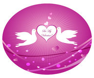 Doves In Love. Valentine's Day Card Royalty Free Stock Images