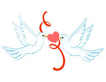 Doves of love Stock Photography