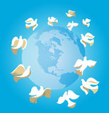 Doves of Peace Stock Photography